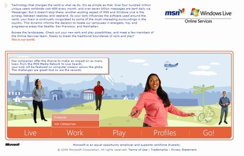 Microsoft Careers Microsite