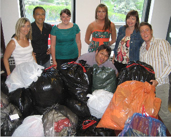 Our TMP Calgary office provided clothing to the Women in Need Society (WINS) and Mustard Seed organization